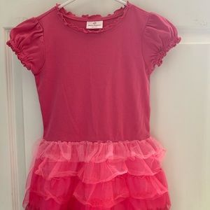 Hanna Andersson Pink Tee & Tulle Twirl Dress 120